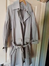 Womens Next Beige Belted Mac. Size 14.