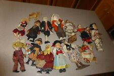 Ronnaug Petterssen & Other Vintage Doll Lot Felt Peg Penny Wood Cloth Bead Asian
