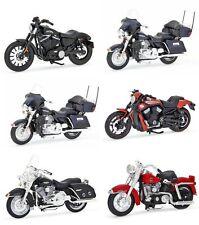 6 PCS HARLEY DAVIDSON MOTORCYCLE SET SERIES 33 1:18 BY MAISTO 31360-33