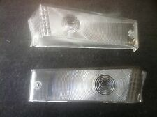 70-73 FORD F100 PARTS GRILLE INDICATOR LIGHT LENS PAIR L+R CLEAR / FROSTED NEW