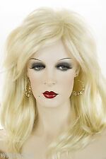 Light Pale Blonde Blonde Long Medium Wavy Straight Wigs