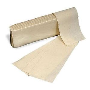 100 x Fabric Muslin Cotton Strips Wax Waxing Leg Body Woven Quality Professional