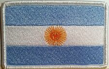 ARGENTINA Flag Embroidered Iron-On Patch Shoulder Emblem White Border