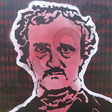 "SCOOTS ""Edgar Allen Poe"" Recycled Vinyl Billboard Canvas Painting 24""X24"""