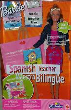 Doll Talking Spanish Teacher Barbie Learning Lesson Xmas gift bilingual talks