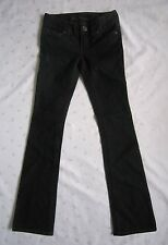 GUESS JEANS Women's Boot Cut Jeans ~Style DOHENY~Black Wash Denim ~Size 24 ~NWOT
