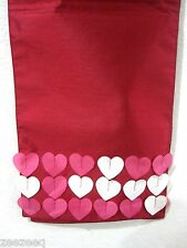 HOME WEAR VALENTINES HEART TABLE RUNNER PINK RED 13x72""