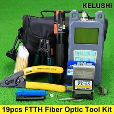 Optical Power Meter Cable tester 10mw Fiber Optical Cleaver Stripping tool kit