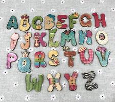20pcs Children cartoon animals letters Wood Buttons Scrapbooking Sewing Random