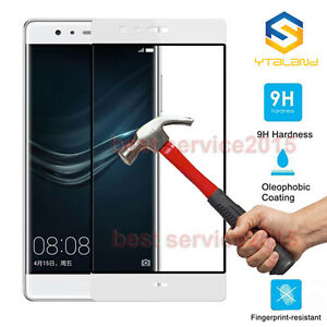 9H+ Full Covered Tempered Glass Screen Protector For Huawei P9 / P9 Plus P9 Lite