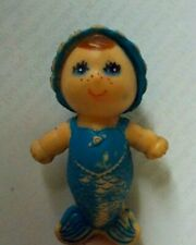 """Vintage 1970's Kenner See Wees Blue Merry Mermaid's BABY MARINA DOLL 2 1/4"""" Tall"""