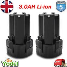 2x 3.0AH 10.8V Li-ion Battery For Makita BL1013 BL1014 DF030D DF330D 194551-4 UK