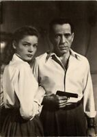 Humphrey Bogart Lauren Bacall Actor Actress Film Movie Star Real Photo Postcard