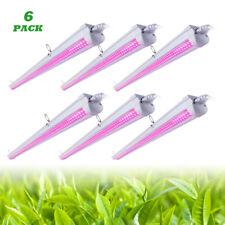 6 PACK T8 4FT LED Grow Lights Full Spectrum Plant Lights 1400W Equivalent