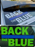 BACK the BLUE SUPPORT LAW ENFORCEMENT POLICE WINDOW DECAL STICKER Cops Sherrif