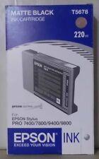Original Epson T5678 Tinte matte black für Stylus Pro 7400 7800 9400 9800