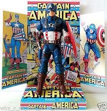 "Marvel CAPTAIN AMERICA 6"" ACTION FIGURE on Custom COMIC Design Display Diarama"