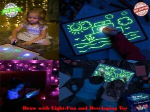 Toys for Kids Light Drawing Board Pad Doodle Writing Educational Girl Boy Gift