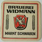 alter Bierdeckel Brauerei WIDMANN, Markt Schwaben 🍺 W-11