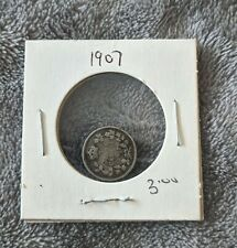 1907 Canadian Small Silver 5 Cent Coin