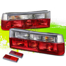 FOR 83-91 BMW E30 3-SERIES/M3 CLEAR HOUSING RED LED REAR SIGNAL TAIL LIGHTS