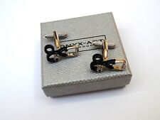 "DOCTOR'S GIFT-Silver & Black ""STETHOSCOPE"" METAL Cuff Links in a GIFT BOX-NEW"