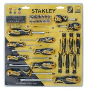 Stanley Screwdriver Soft Grip Tool Set - 58 Piece