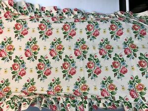 Laura Ashley Pillow Shams King PAIR Ruffle White Floral Rose