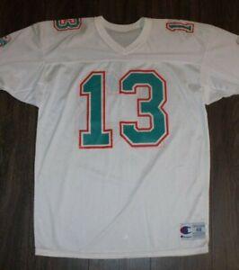 VTG NOS Dan Marino Miami Dolphins Jersey SIZE 48 Champion Nylon NFL White