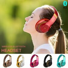 Foldable Wireless Bluetooth Headphones Headsets Earphones HiFi Stereo w/ Mic