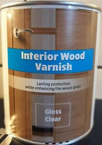 750ML QUICK DRY GLOSS INTERIOR WATER BASED CLEAR WOOD VARNISH