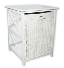 KMH® Wäschekorb weiß Rattan Wäschetruhe Wäschebox Wäschesammler Aufbewahrung