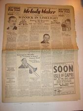 MELODY MAKER 1934 NOVEMBER 10 MAURICE WINNICK LES ALLEN TROMBONE JAZZ