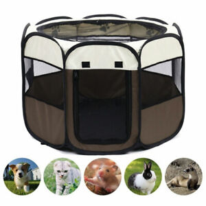 Portable Folding Pet Tent Dog House Octagonal Cage For Cat Tent Playpen Puppy