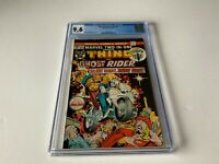MARVEL TWO IN ONE 8 CGC 9.6 WHITE PAGES GHOST RIDER THING MARVEL COMICS 1975