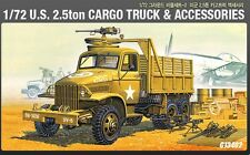 Academy 13402 Military 1/72 Plastic Model Kit US 2.5 Ton Cargo Truck&Accessories