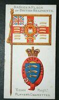 ESSEX REGIMENT    Original 1904 Vintage Regimental Colours & Badge Card