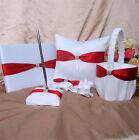 1 Set Wedding Guest Book and Pen & Ring Bearer Pillow& Flower Girl Basket& Garte