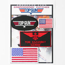 "TOP GUN ""ICEMAN"" FANCY DRESS Iron-On Patch Super Set #135 - FREE POSTAGE!"