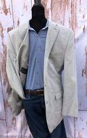 Lauren Ralph Lauren Mens 42 Cotton Blend Seersucker Blazer Sport Coat Summer