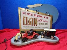 Vintage Advertising Sign  ELGIN Self-Winding Watch Lighted Counter Store Display