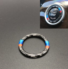 For BMW 3 Series E90/E92/E93 Carbon Fiber Key Start Button Frame Ring Decor Trim