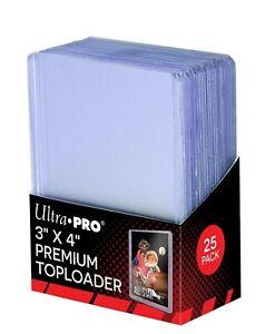 "Ultra Pro Regular Size Toploader 3""x4"" (25 pcs) Sealed MTG MAGIC POKEMON YUGIOH"
