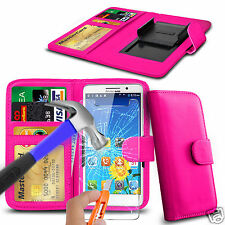 For Landvo XM100 3G - Glass & Clip On PU Leather Wallet Case Cover