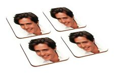 Hugh Grant Young 4 Piece Wooden Coaster Set
