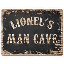 Ppmc0420 Lionel'S Man Cave Tin Chic Sign man cave Decor Birthday Gift Ideas