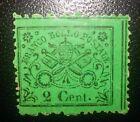 ANTICHI STATI Stato Pontificio 2 cent 1868 n.22b nuovo * con decalco