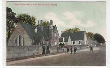 VILLAGE SCHOOL AND PARISH CHURCH HALL, POLMONT: Stirlingshire postcard (C26202)