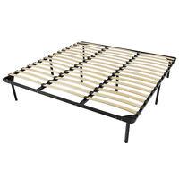 BCP King Metal Bed Frame w/ Wooden Slats