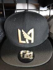 LAFC New Era Snapback Hat Black Gold Los Angeles Football Club Soccer